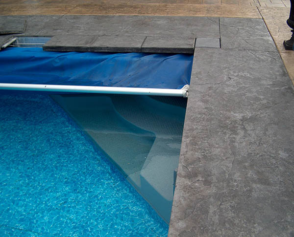 built in pool cover